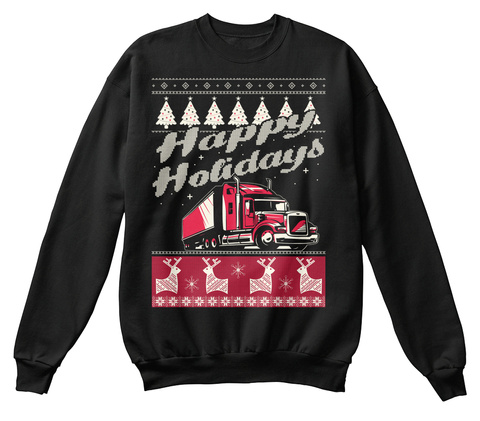 Happy Holidays Black Kaos Front