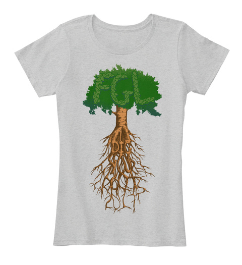 Fgl Dig Your Roots 2017 Light Heather Grey Women's T-Shirt Front
