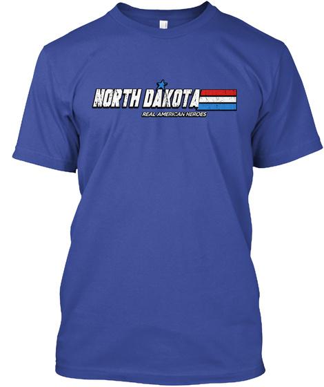 North Dakota Real American Heroes Deep Royal T-Shirt Front