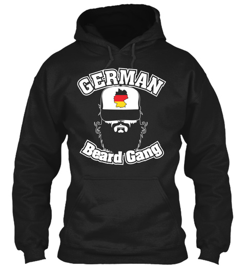 Germab Beard Gang Black T-Shirt Front