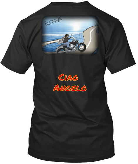Buonva Ciao Angelo Black T-Shirt Back