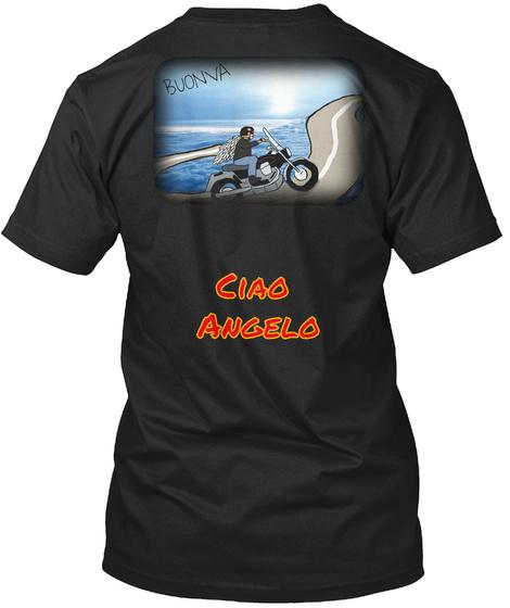 Buonva Ciao Angelo Black T-Shirt Back