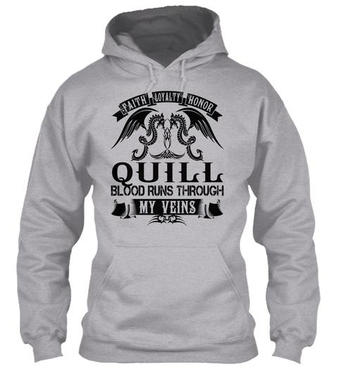 Quill   My Veins Name Shirts Sport Grey Maglietta Front