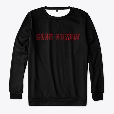 """Foreign Languages """"Alex Gomez"""" Black T-Shirt Front"""