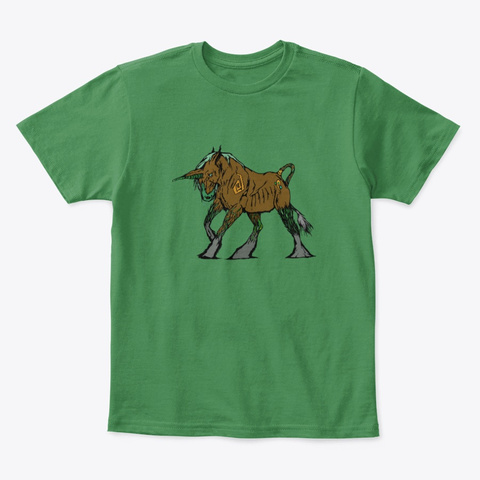 The Guardian Of The Forest Kelly Green  T-Shirt Front