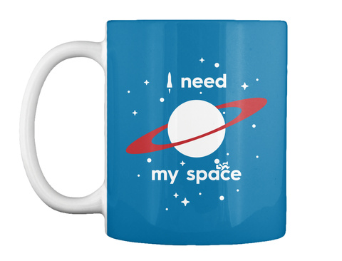 I Need My Space Royal Blue Mug Front