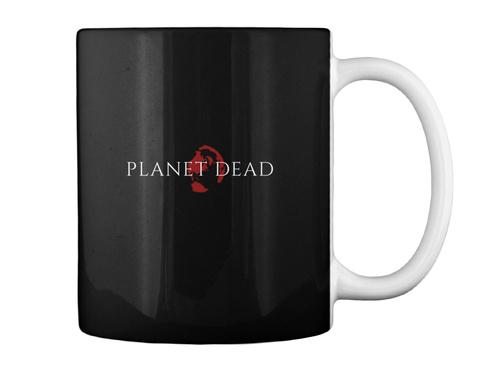 Planet Dead Coffee Time Black T-Shirt Back