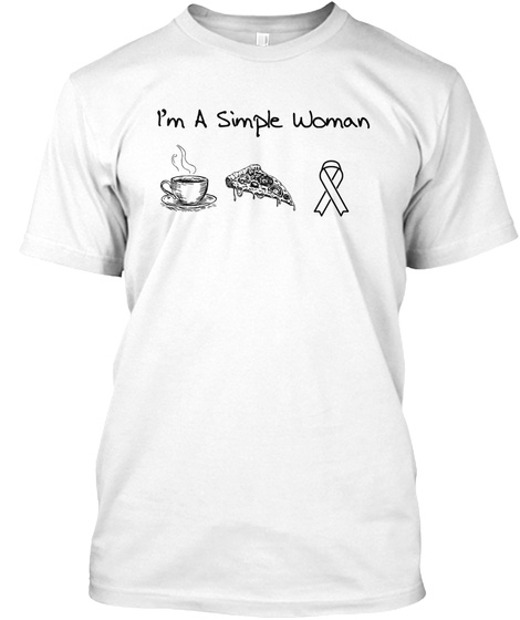Breast Cancer Simple Woman White T-Shirt Front