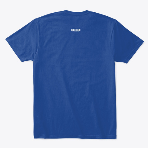 2 Receptions 2 Td's Deep Royal áo T-Shirt Back
