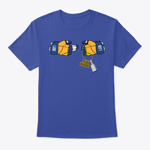 Blues Hockey Podcast Cup Champs Shirt Deep Royal T-Shirt Front