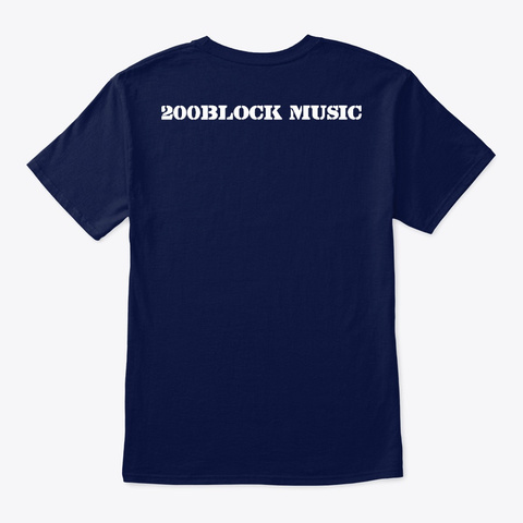 200 Block Music Gear Navy T-Shirt Back