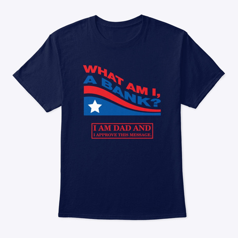 "Wgd ""What Am I A Bank?"" 2020 Navy T-Shirt Front"