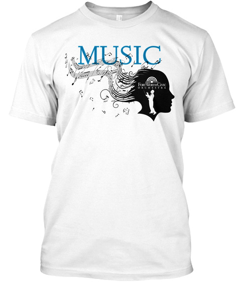 Music White T-Shirt Front