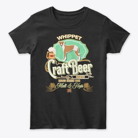 Whippt Gifts Dog Beer Lover Black T-Shirt Front
