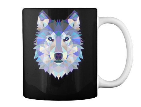 Wolf Mug Black T-Shirt Back