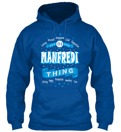 Name Manfredi Christmas Weather Royal T-Shirt Front