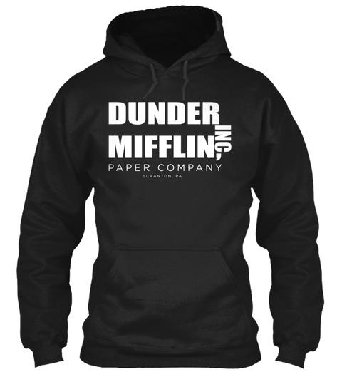 Dunder Mifflin Inc Paper Company Scranton Pa Black T-Shirt Front