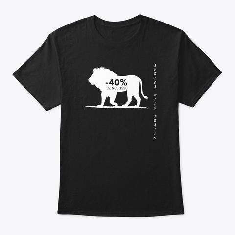 Lion Black T Shirt Black T-Shirt Front