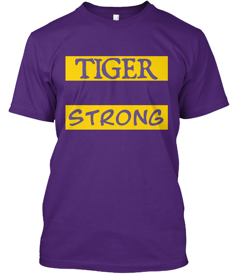 Tiger Strong Purple T-Shirt Front
