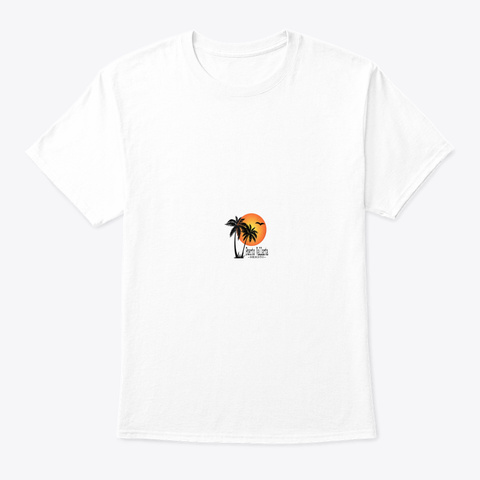 Puerto Vallarta Souvenir Gift Sun Palm T White T-Shirt Front