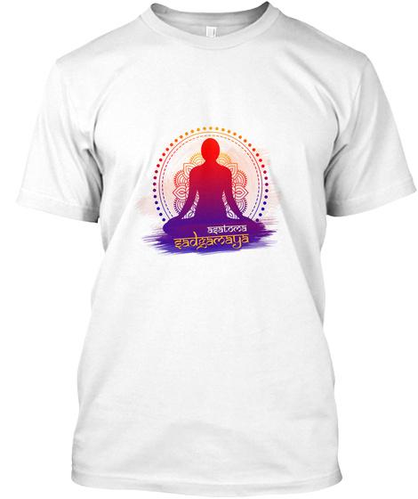 Meditation Graphics Apparel. White T-Shirt Front