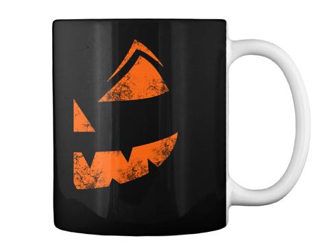 Halloween Pumkin Mug Gift Black T-Shirt Back