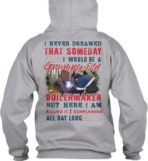 Awesome Boilermaker Sport Grey T-Shirt Back