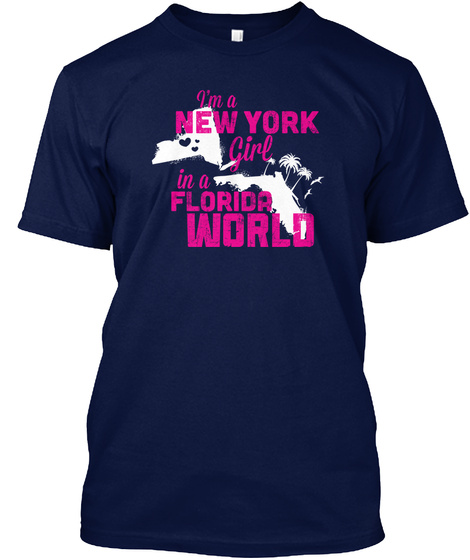 In A Florida World Navy T-Shirt Front
