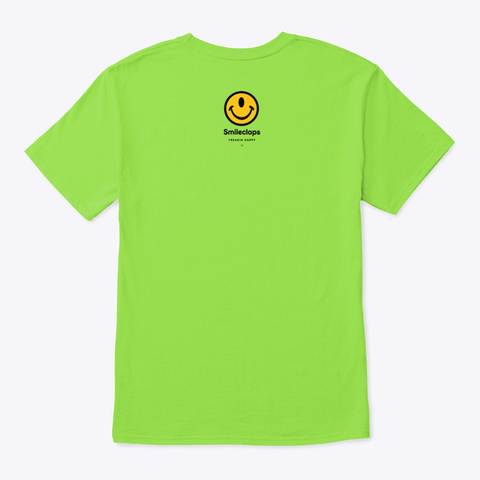 Small Smileclops™ Lime T-Shirt Back