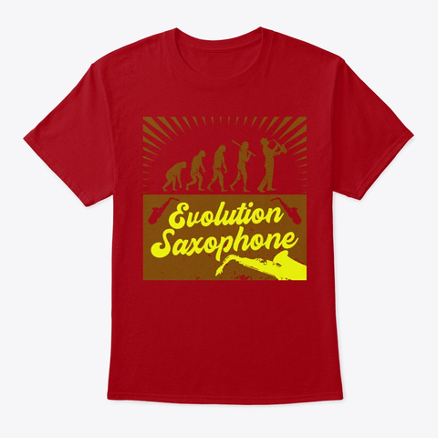 Evolution Saxophone Deep Red T-Shirt Front