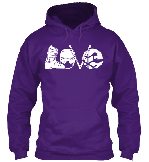 Love Purple Sweatshirt Front