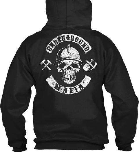 Underground Mafia Black Maglietta Back