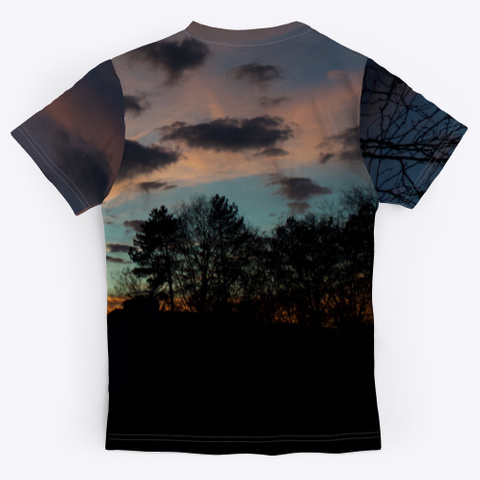Cool Sunsets Black T-Shirt Back