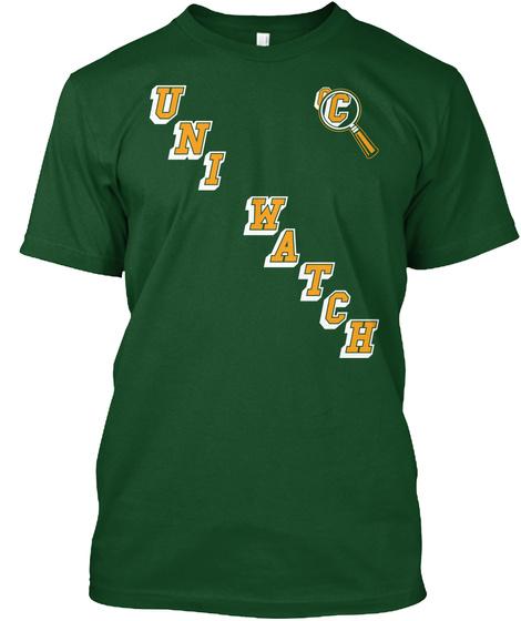 Uni Watch C Deep Forest T-Shirt Front