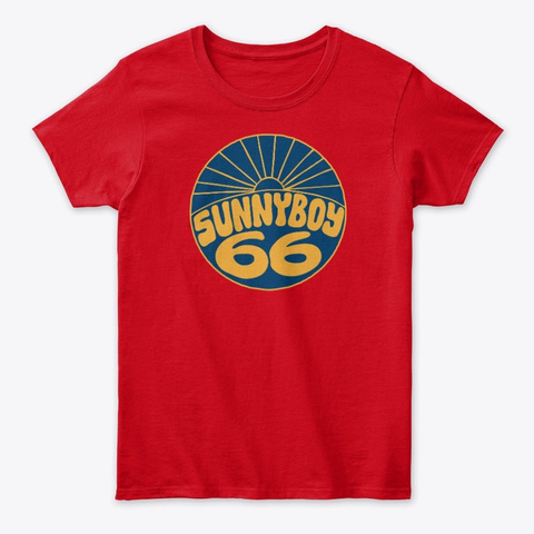 Women's Classic Tee Red T-Shirt Front