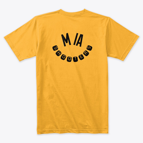 Photographer Tee Gold T-Shirt Back