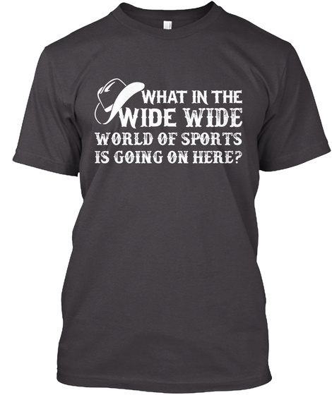 Wide Wide   Ltd Edition Heathered Charcoal  T-Shirt Front