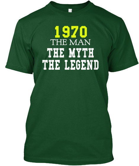 1979 The Man The Myth The Legend Deep Forest T-Shirt Front