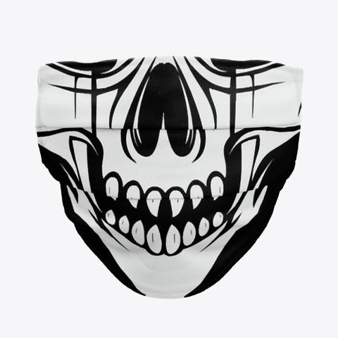 Fanged Skull Face Mask Mask Standard T-Shirt Front