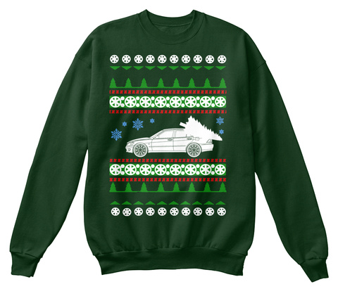 Lexus Is300  Ugly Christmas Sweater Deep Forest  T-Shirt Front