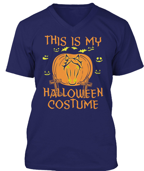 This Is My Halloween Costume Navy T-Shirt Front