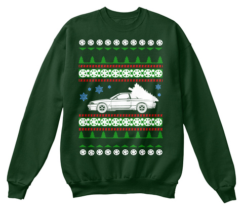 R32 Gtr  Ugly Christmas Sweater Deep Forest  T-Shirt Front