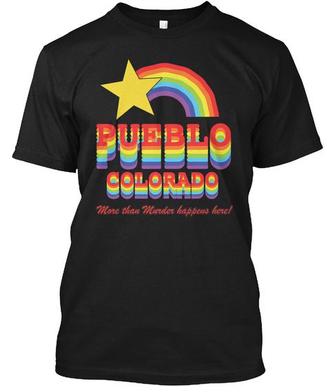 Pueblo Colorado Black T-Shirt Front