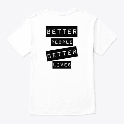 Beyond Bars White T-Shirt Back