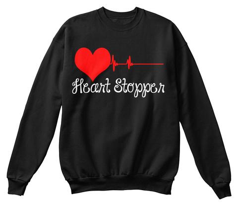 Heart Stopper Black T-Shirt Front