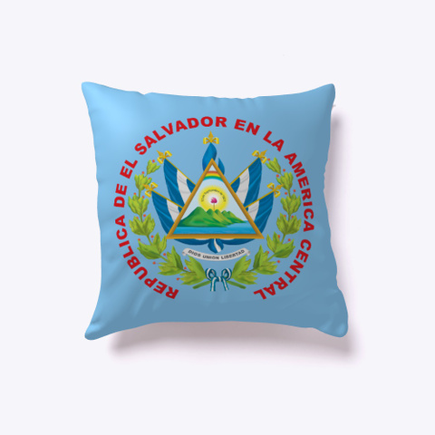 Indor Pillow, Canada & El Salvador Light Blue T-Shirt Back