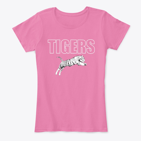 Tigers   Breast Cancer Awareness True Pink T-Shirt Front