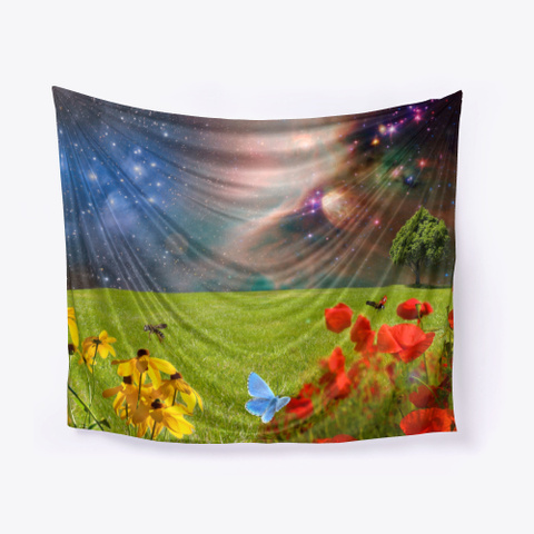 Wall Panel Tapestry By Ilumina Black T-Shirt Front