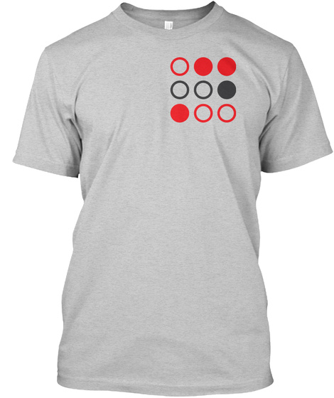 Pi, Huffman Encoded (3 Digits) Light Steel T-Shirt Front