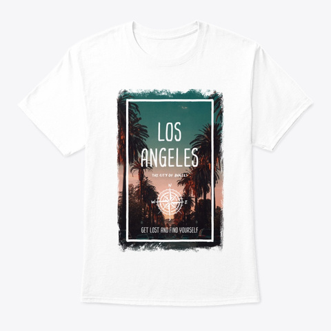 Los Angeles, Us, The City Of Angels White T-Shirt Front
